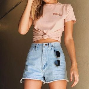 Brandy Melville Embroidered Top FINAL MARKDOWN
